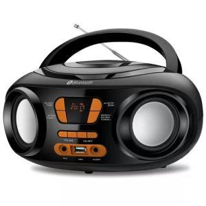 Rádio Portátil Mondial Boom Box BX-19 Rádio FM Bluetooth e Entrada USB Preto/Laranja – Bivolt
