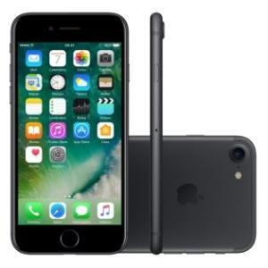"iPhone 7 32GB Preto Matte Tela 4.7"" iOS 10 4G Câmera 12MP - Apple - R$ 2639"