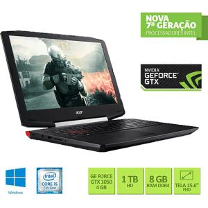 "Notebook Gamer Acer VX5-591G-54PG Intel Core i5 8GB (GeForce GTX 1050 com 4GB) 1TB Tela LED 15,6"" - R$ 3247"