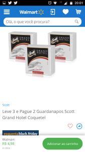 Leve 3 e Pague 2 Guardanapos Scott Grand Hotel Coquetel