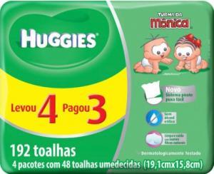 TOALHAS UMEDECIDAS HUGGIES CLASSIC - 192 Unidades