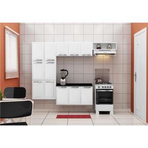 Cozinha Compacta Itatiaia Daniele com 12 Portas - Branca - R$ 398