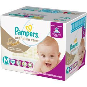 3 Pacotes de Fralda Pampers-Premium Care G (120 Unidades) - R$120