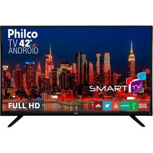 "Smart TV LED 42"" Philco Full HD com Conversor Digital Wi-Fi - R$1399,99"