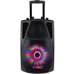 Caixa Acústica Portátil TRC 359 Bluetooth 360W com Iluminação - R$ 359