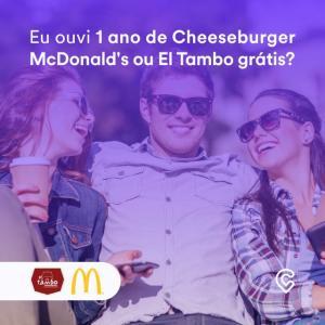 [Campinas] Ganhe 1 ano de Cheeseburger McDonald's ou 1 ano de El Tambo grátis