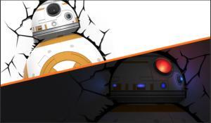 Luminária 3d Light Fx Star Wars BB-8 - R$79