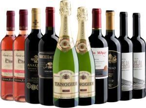 Kit de 10 vinhos por R$199