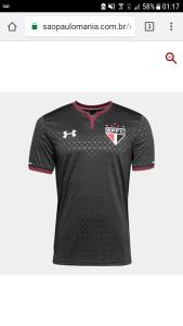 Camisa São Paulo III torcedor 2017/18