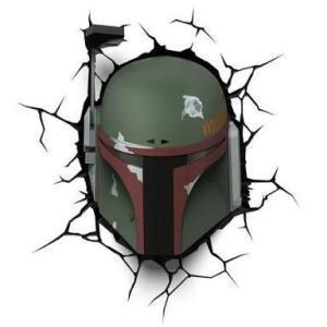 Luminária 3D Boba Fett Star Wars