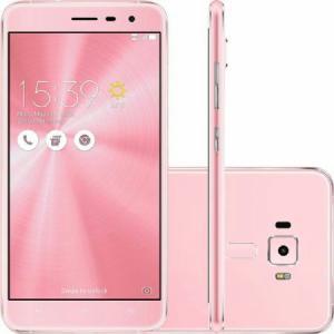 """Zenfone 3 ZE552KL 5.5"""" 64GB, 4GB de RAM. Rosa - R$1039,00"""