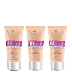 Kit BB Cream L'Oréal Paris Dermo Expertise Base Clara 30ml 3 Unidades R$45