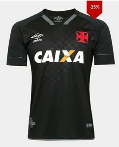 Camisa Vasco III 17/18 s/n° - Torcedor Umbro Masculina - Preto e Grafite - R$180