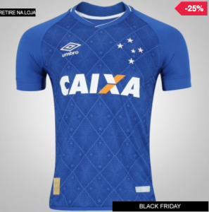 Camisa do Cruzeiro I 2017 Umbro - Masculina - R$179,00