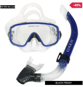 Kit de Mergulho: Snorkel e Máscara de Mergulho Oxer Argus - Adulto - R$54,99