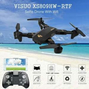 [Tomtop] Drone visuo XS809HW com 3 baterias - R$147