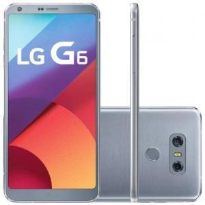 """Smartphone LG G6 LGH870 4G Desbloqueado Platinum Android 7.0, Tela 5.7"""", Memória Interna 32GB, Quad-core 2.35 GHz"""