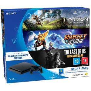 PS4 Slim (Bundle Jogos + PSN Plus 3 meses) - R$1499,00
