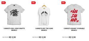Camisetas à partir de 5,90
