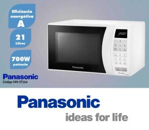 Micro-Ondas 21L Branco ST254W PANASONIC por R$ 251