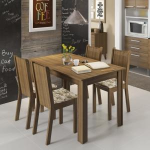 Conjunto de Mesa com 4 Cadeiras Rosie Rustic e Lirio Bege - R$313,50