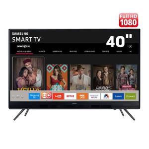 "Smart TV LED 40"" Full HD Samsung 40K5300 com Plataforma Tizen, Conectividade com Smartphones, Áudio Frontal, Conversor Digital, Wi-Fi, 2 HDMI e 1 USB - R$1367"