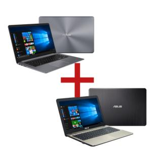 Notebook X510UR-BQ167T Cinza + Notebook X541UA-GO1986T Preto - R$3959