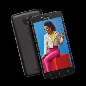 "Smartphone Moto C Plus Ouro ou Preto Dtv 5"" Dualchip - R$399"
