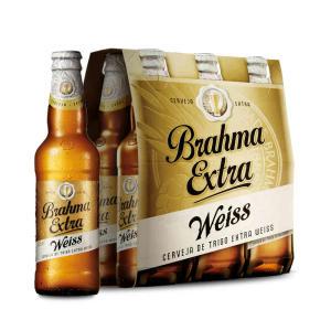 Cerveja Brahma Extra Weiss 355ml Cx com 6 unid - R$14,65
