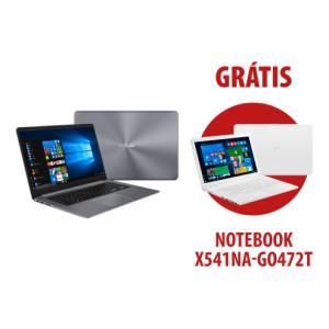 Notebook X510UR-BQ166T Cinza + Notebook X541NA-GO472T Branco
