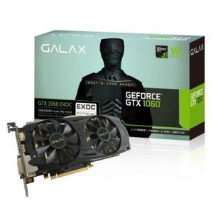 Placa de Vídeo Galax GeForce GTX 1060 EXOC 3GB 60NNH7DVM6O3 192 Bits, GDDR5, PCI-Express 3.0 - R$895