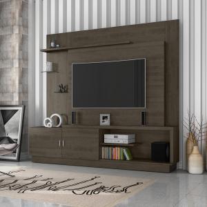 """Home Atacama Ideal para TV de até 48"""" com 2 Portas em MDF e MDP - Cor Deck - R$ 399"""