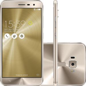 "Smartphone Asus Zenfone 3, Dual Chip, Dourado, Tela 5.5"", 4G+WiFi, Android 6.0, 16MP, 64GB - R$1034,26"