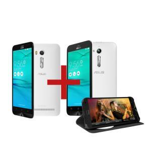 "Zenfone Go Live DTV Branco + Zenfone Go 5"" 1GB/8GB Branco + FlipCover para Zenfone Go Live Preto R$ 809"