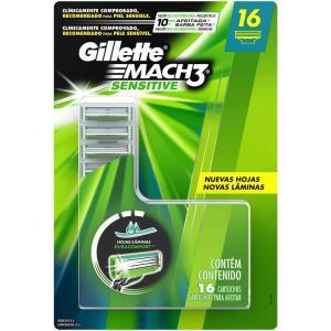 Carga para Aparelho de Barbear Gillette Mach3 Sensitive - 16 unidades por R$ 60