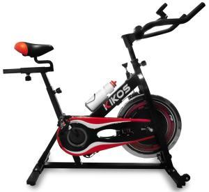 Bicicleta Spinning Kikos BF5 - Preta, Cinza e Vermelha $949,90