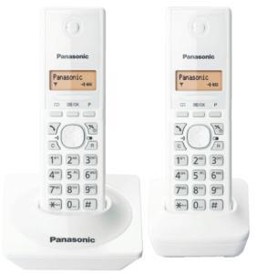 Telefone Sem Fio Panasonic Tg1712 Branco Identificador, Base + 1 Ramal