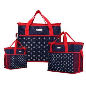 Kit 3 Bolsas Térmicas de 5L, 11L, 20L em PVC, Super leve e dobrável, Alça transversal regulável, Azul e Vermelha - Yins Brasil - R$49,90