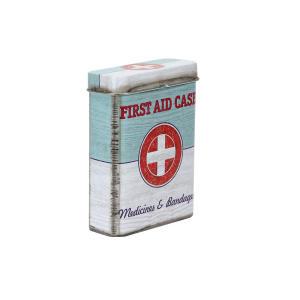 Caixa Organizadora Pocket First Aid Vermelha e Menta - R$5,94