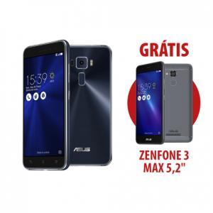"""Zenfone 3 5.5"""" 4GB/64GB Preto Safira + Zenfone 3 Max 5,2"""" Cinza EscuroR$ 1.665"""