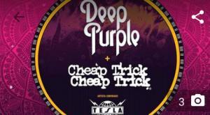 Ingresso para show do Deep purple and Cheap Trick em São Paulo - R$104