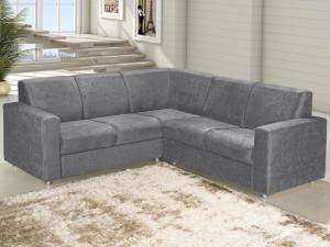 Sofá de Canto Chaise 2 Lugares Revestimento Suede - Roma American Comfort por R$799