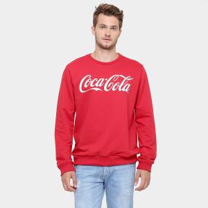 Moletom Coca Cola Fechado Logo - Vermelho por R$ 70