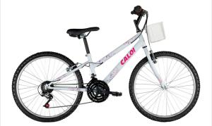 Bicicleta Aro 24 Caloi Ceci com 21 Marchas - Branca - R$ 399