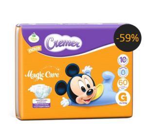 Fralda Cremer Hiper Disney Baby Tamanho G - 60 Unidades De: R$ 58,54 Por: R$ 23,90
