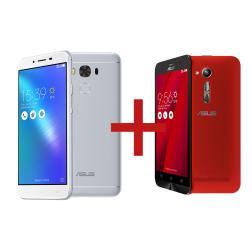 "Zenfone 3 Max 5,5"" 2GB/32GB Prata + Zenfone Go 5"" 1GB/8GB Vermelho"
