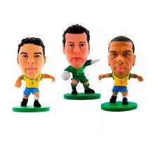 Kit com 3 Mini Figuras – CBF Soccerstarz - Creative 4,99