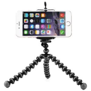 Mini Octopus Style Mobile Phone Stand Flexible Tripod  -  BLACK AND GREY  Compra Internacional R$6.53