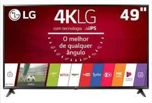 "Smart TV LED 49"" Ultra HD 4K LG 49UJ6300 com Sistema WebOS 3.5, Wi-Fi- R$ 2339"