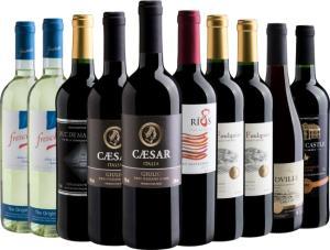 Kit de 10 vinhos por 199 na Evino